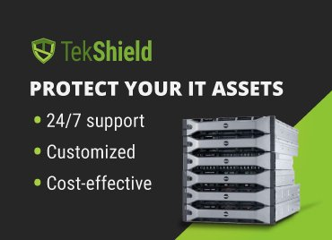 Protect your IT assets with Tekshield. Get 24/7 support